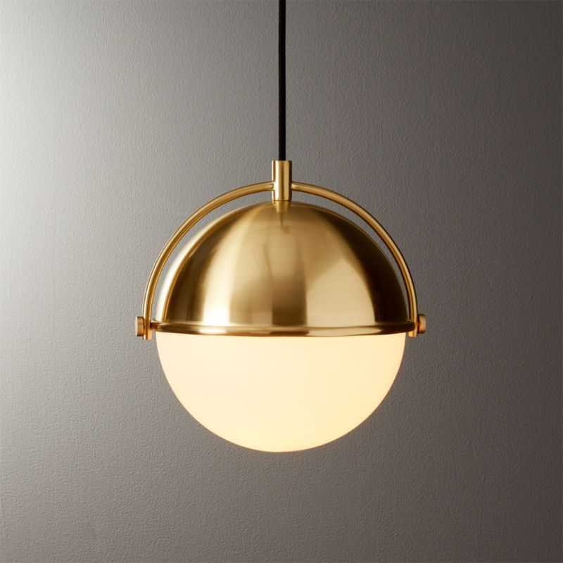Globe Small Brass Pendant Light In 2020 Brass Pendant Light