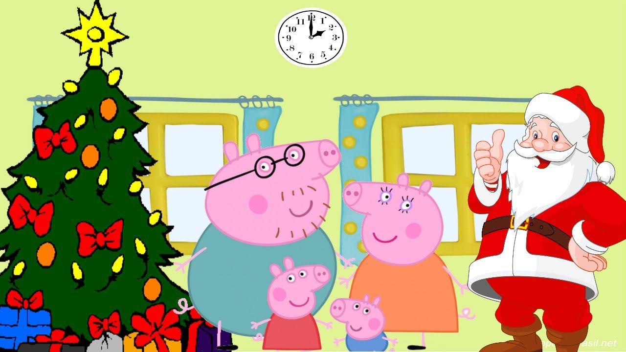Especial de Natal Desenhos Familia Peppa Pig e o Papai Noel em Português.