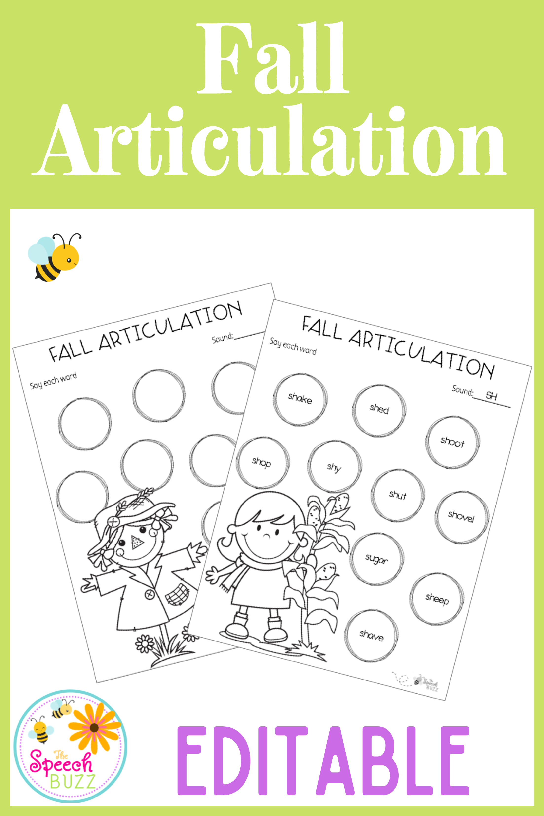 Fall Articulation Editable