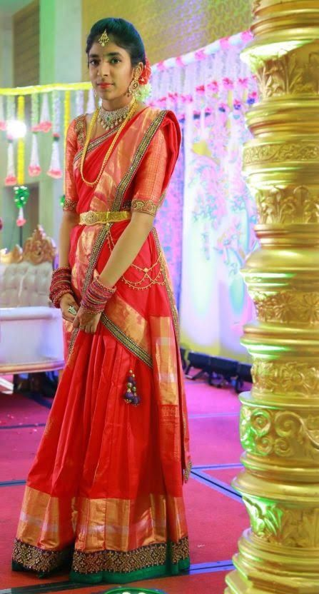Girl in best compliment saree for 300 Best
