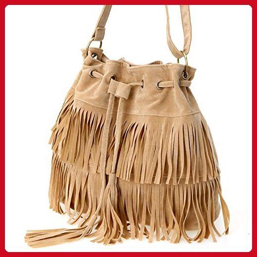 684f4ce6cf04 Eshion Womens Cross-body Shoulder Bag Faux Suede Fringe Tassels - Crossbody  bags ( Amazon Partner-Link)