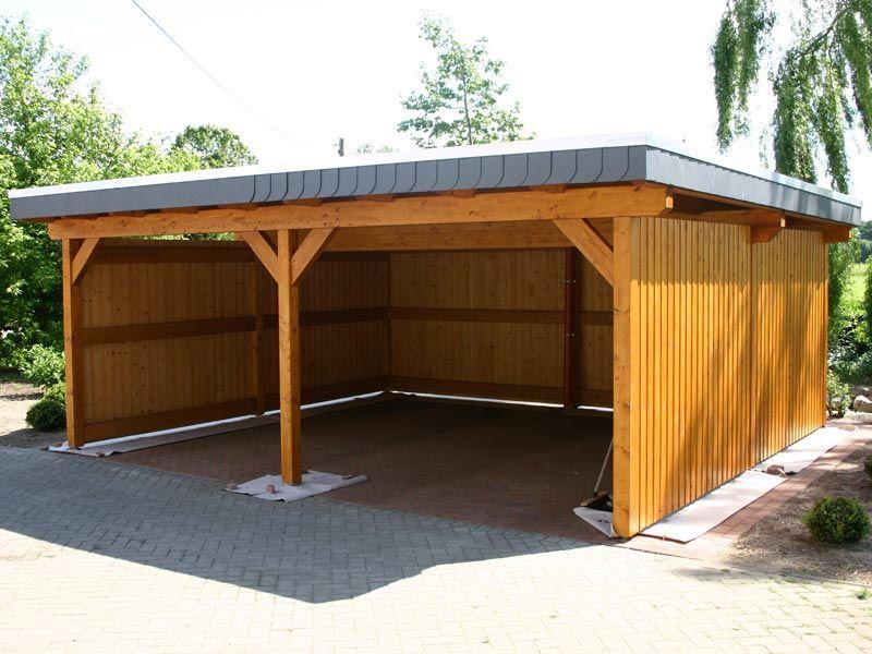 holzcarport f r die einfahrt in ein carport kann ein schuppen oder ein dachboden integriert. Black Bedroom Furniture Sets. Home Design Ideas