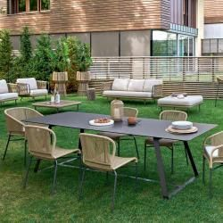 Photo of Moderner Gartentisch in unterschiedlichen Dimensionen Varaschin Kolonaki Varasch…