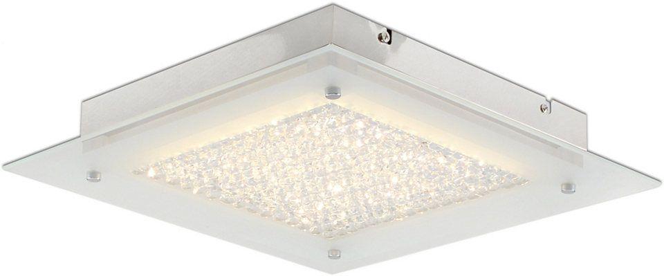 Näve LED Deckenleuchte 1flg, LEDs fest integriert, »Kristall« Jetzt - deckenleuchten für badezimmer