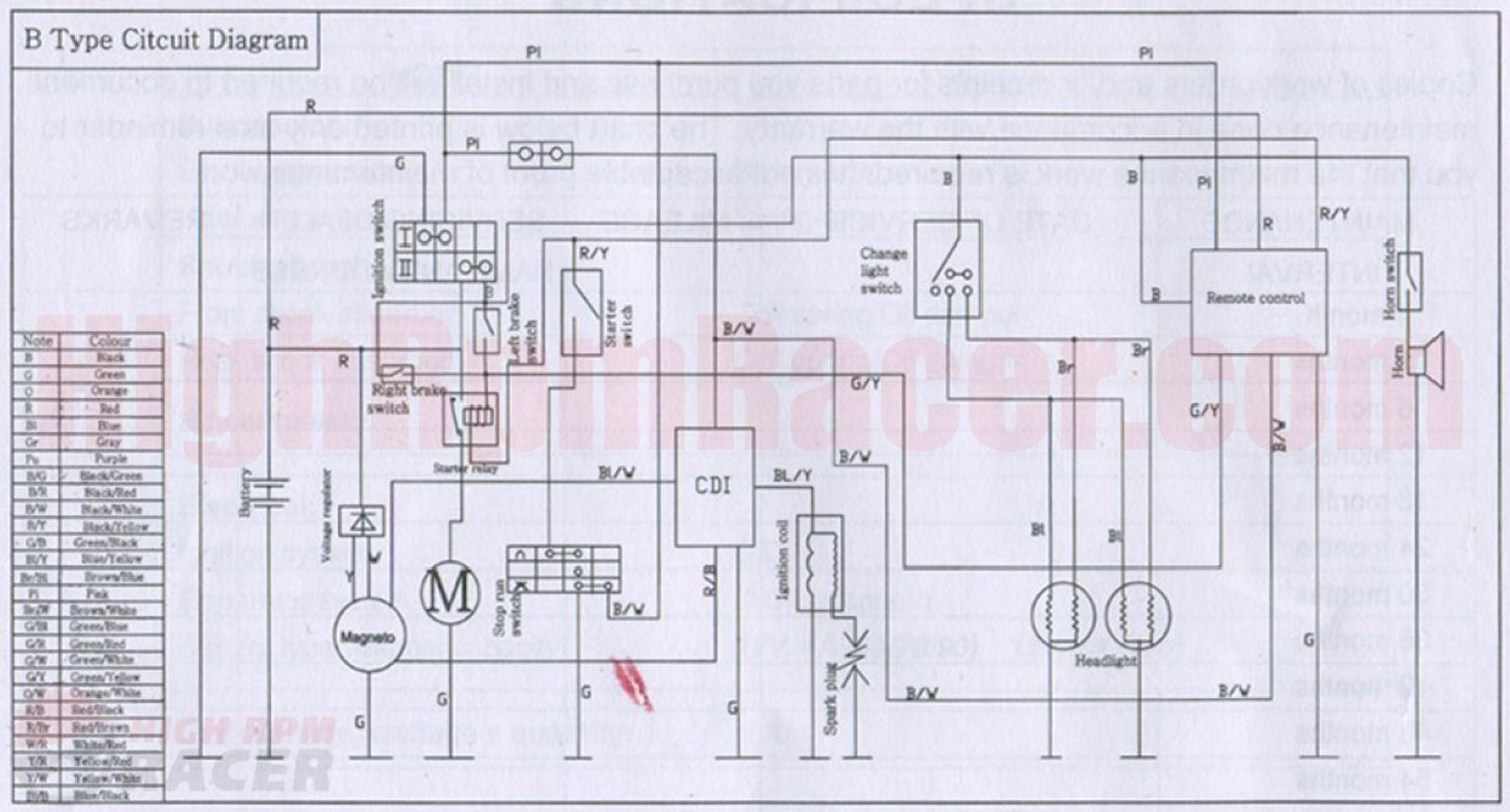 107cc Engine Wiring Diagram Just Wirings 100cc 110cc Pocket Bike Need Rh Pinterest Com 150cc 125cc