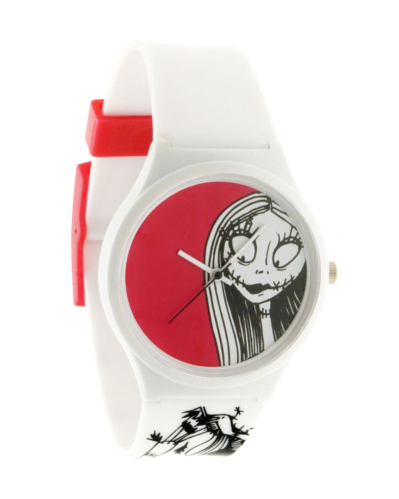 Flud X Disney Nightmare Before Christmas Sally Watch - White / Red ...