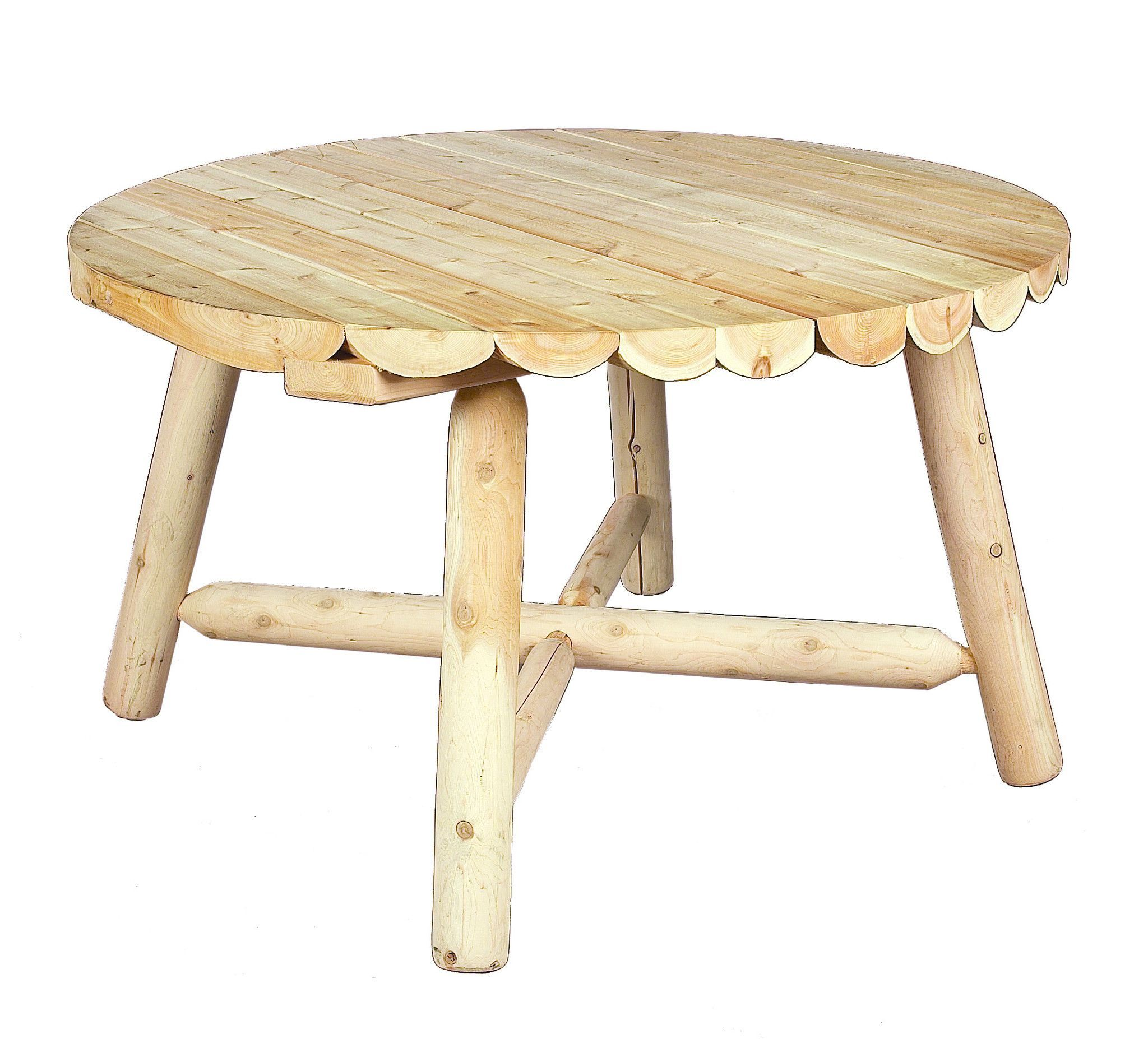 Rustic Natural Cedar 200013 Round Dining Table 48\