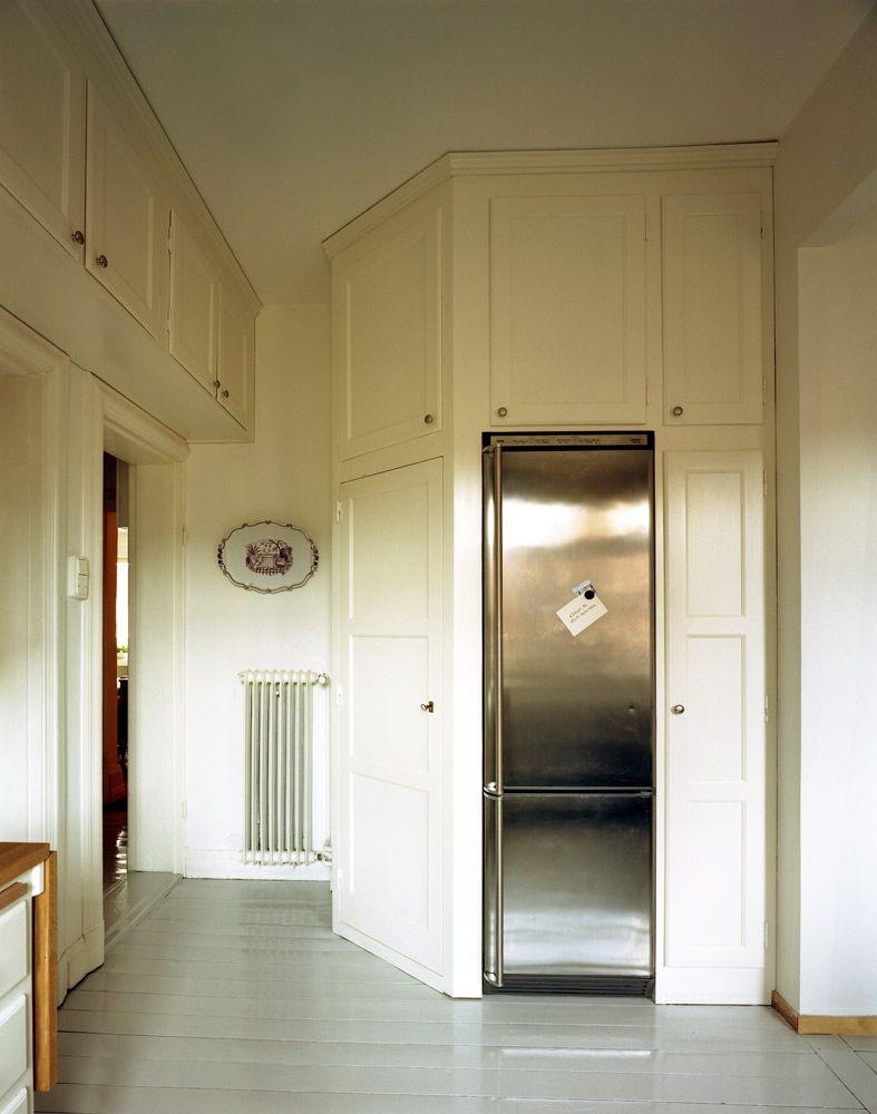 Platsbyggd skåpinredning för kök i originalstil, 20 tal, handbyggt ...