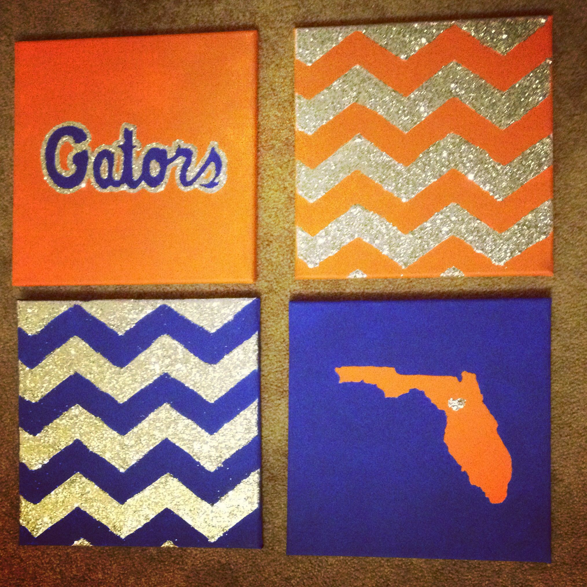 Gators canvas art | Crafts! | Pinterest | Canvases, Craft and ...