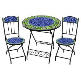 3 Piece Moorish Outdoor Bistro Set Outdoor Bistro Set Bistro Set Modern Patio Furniture 3 piece bistro patio set