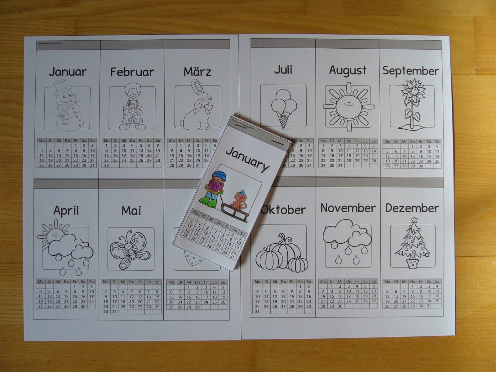 kalender.JPG (1600×1200) | sachkunde | Pinterest | Bildung, Klasse ...