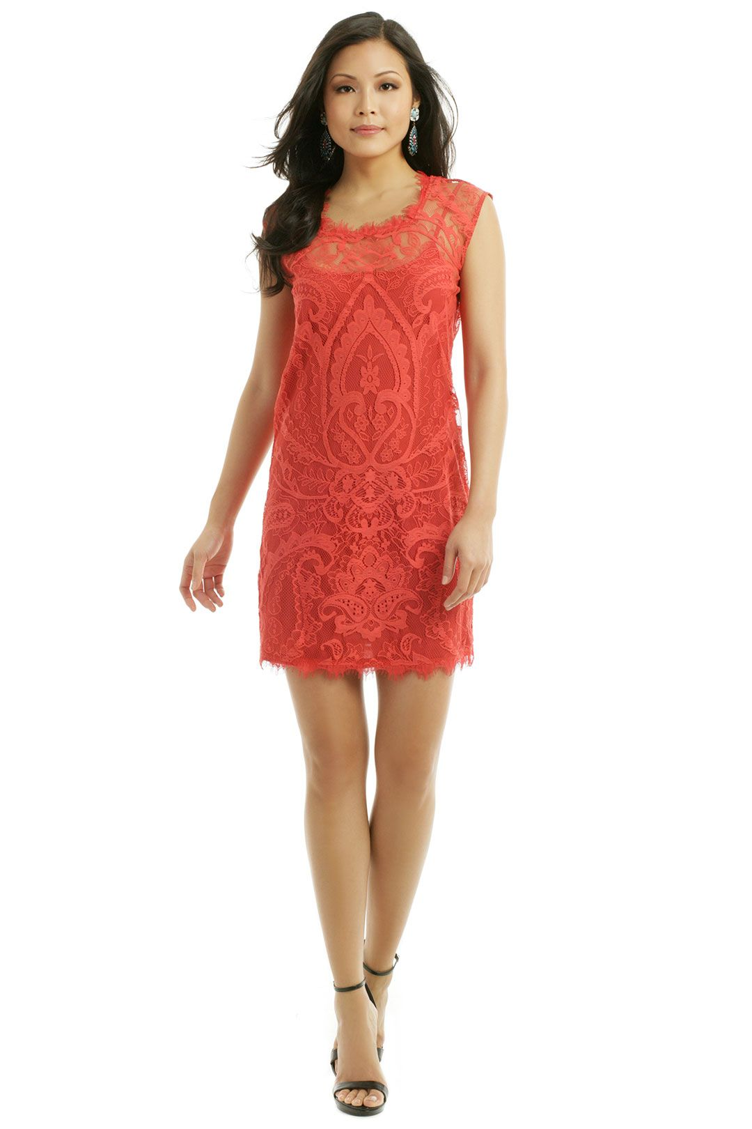 Nicole Miller Apricot Spritzer Sheath Perfect for spring :)