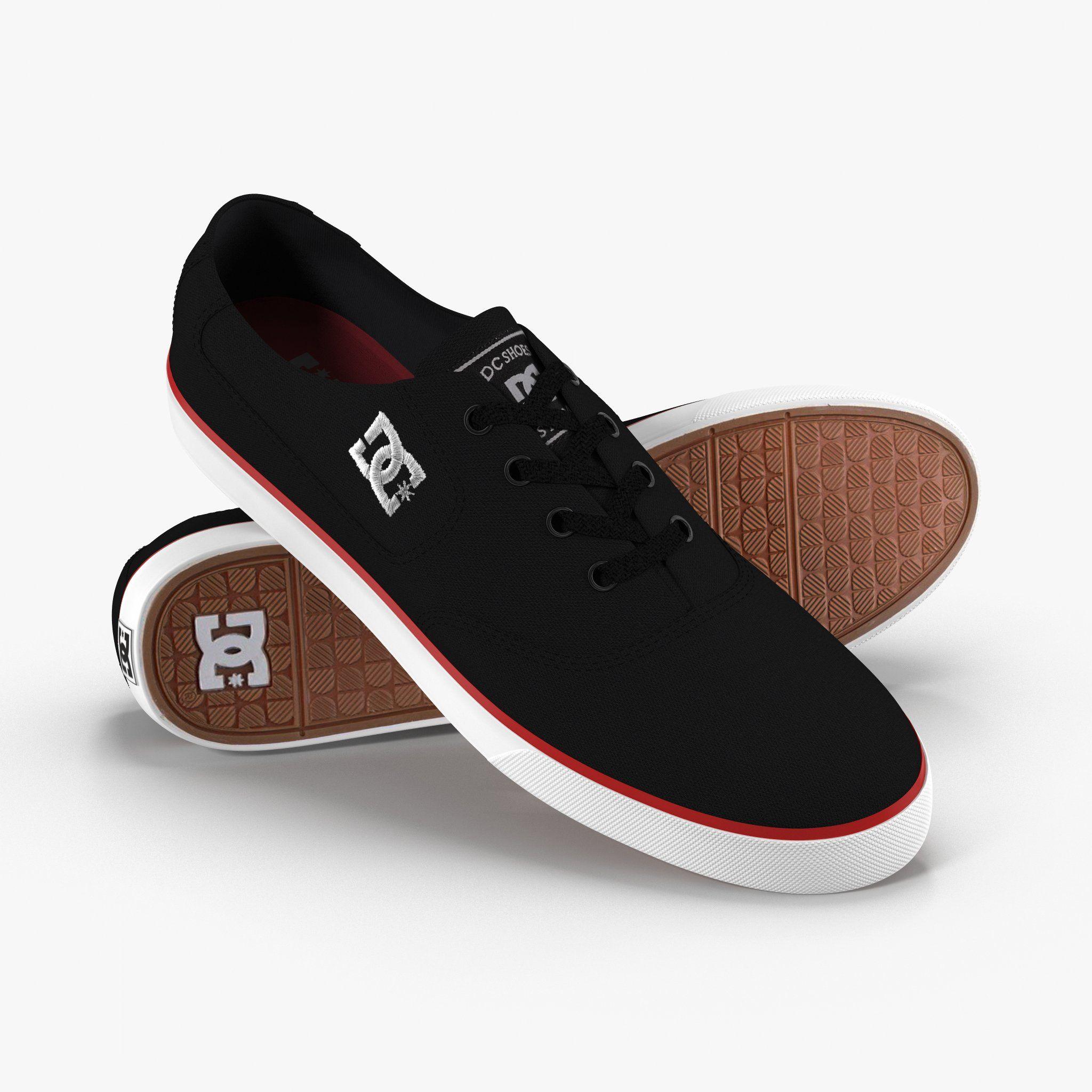 DC Shoes - Flash TX Black-Red | Black