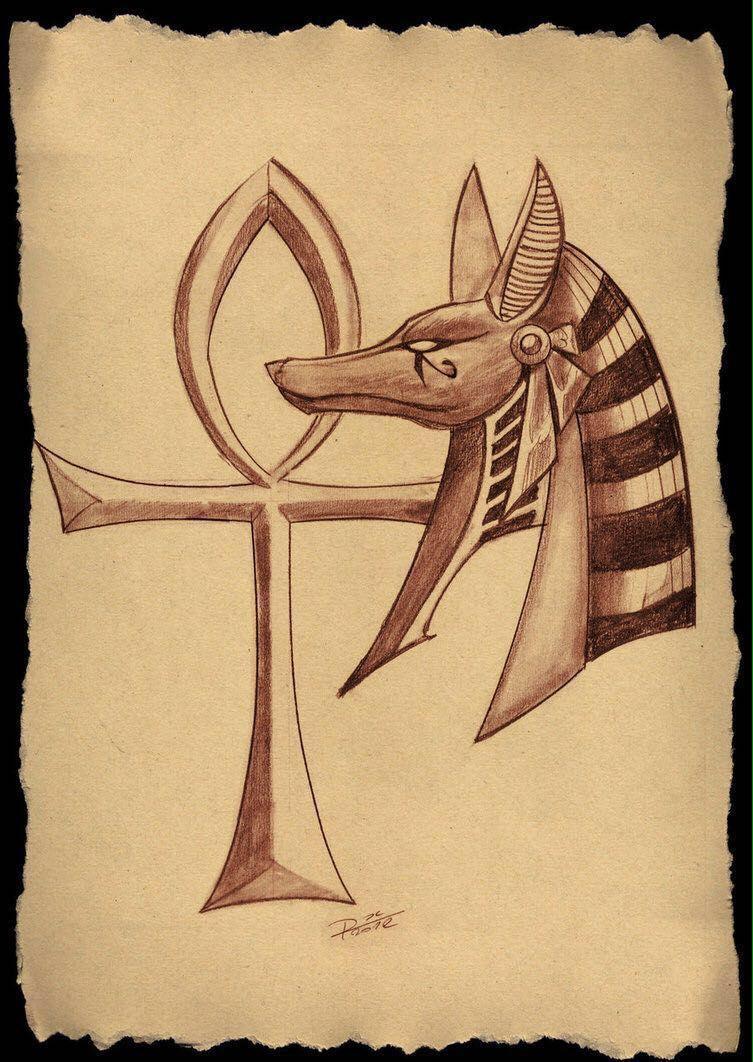 Anubis e Cruz Ankh | Ink work | Ankh tattoo, Anubis tattoo, Egyptian