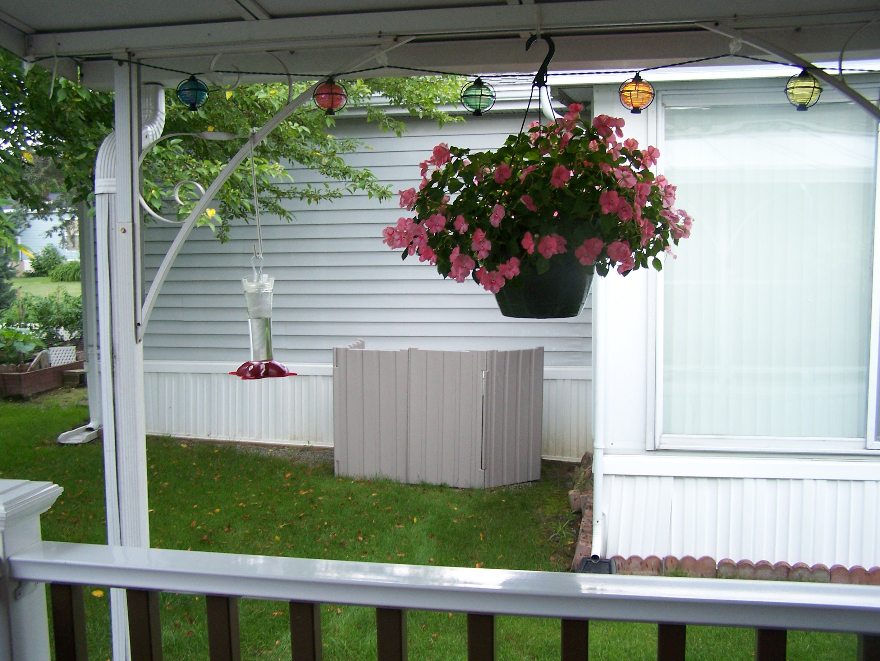2 Quiet Fence™ placed around a neighbors a/c to stop the