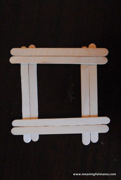Popsicle Stick Button Frame - AWANA Cubbies Bear Hug Craft #6 ...