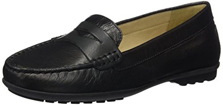 Geox D Elidia A, Mocassins (Loafers) Femme, Noir (Black C9999), 40 EU