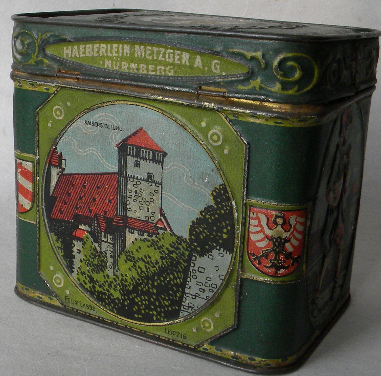 tin antique green lebkuchen n rnberg nuremberg germany jugendstil chromolitho ebay vintage. Black Bedroom Furniture Sets. Home Design Ideas