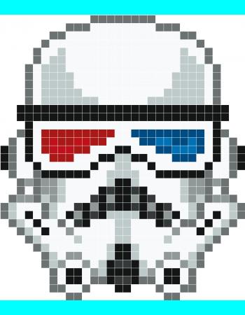 Geek Stormtrooper Pixel Art Stickaz Pixel Art Minecraft