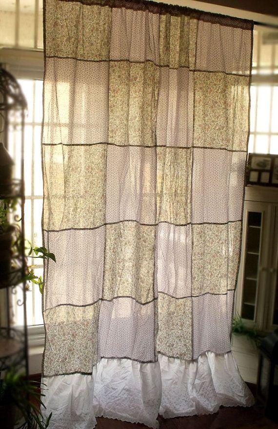 "90""+ long Urban Gypsy Bohemian Patchwork Curtain Panel"