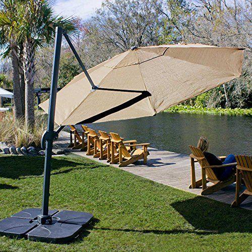 Coolaroo Cantilever Umbrella Round 12 Mocha Patio