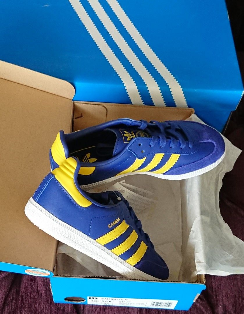 premium selection 92eac d5210 Pair of Samba in Stockholm colourway dropped today, Xmas pressie for my  5-yr-old godson - youve got to start em young... 😆