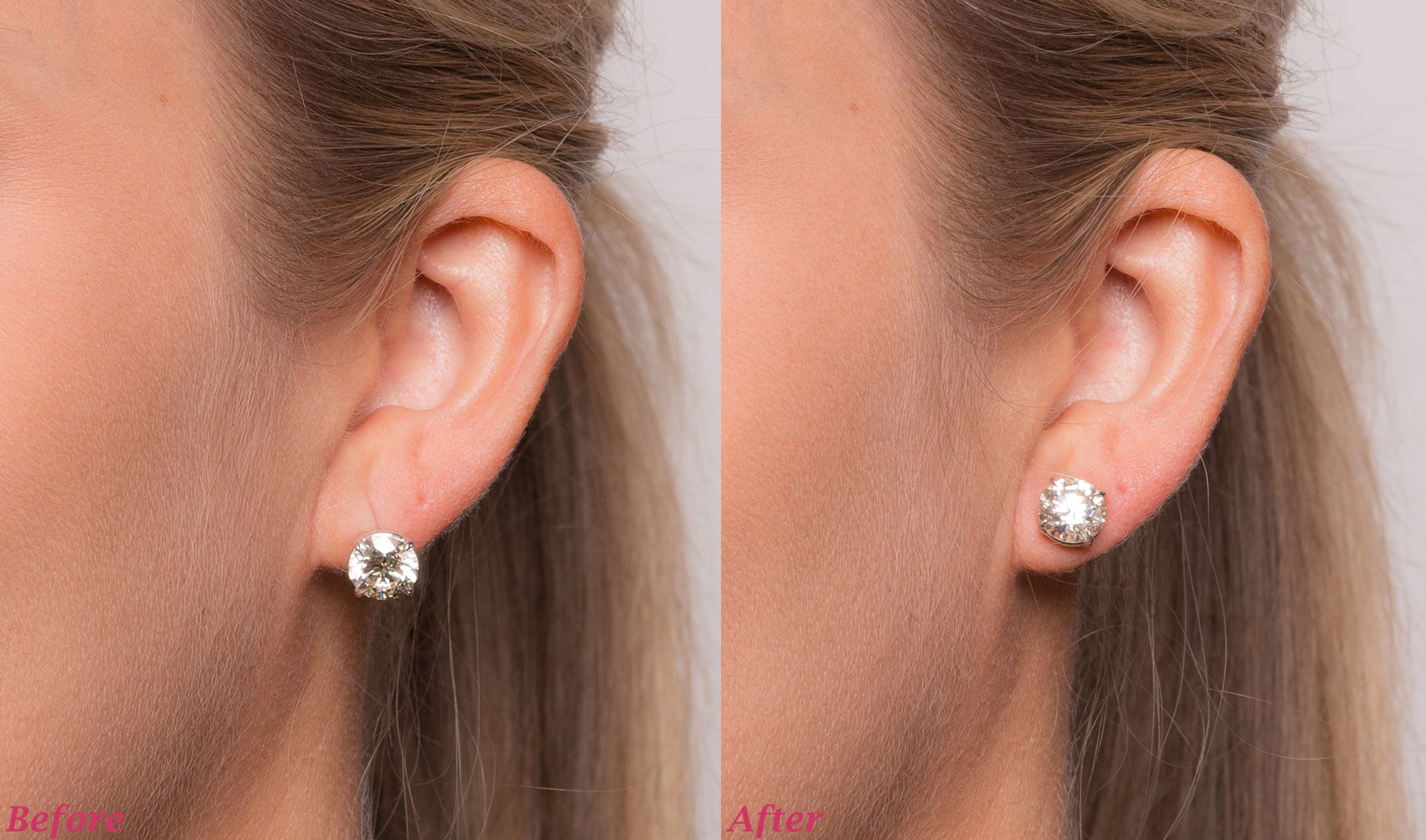 ce827d55f Before and after using Levears! Levears give earrings an instant lift. It's  the beauty hack you never knew existed but need!