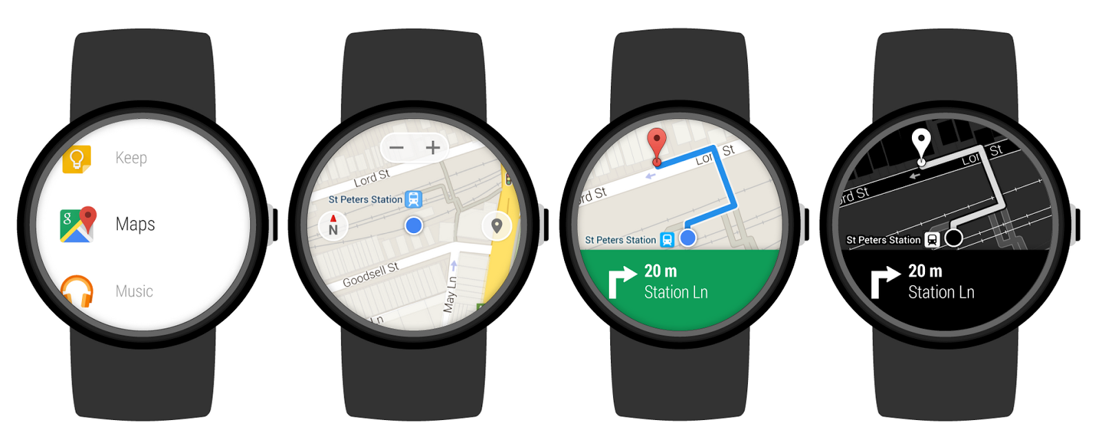 Android Wear this is text note   android wear, google maps app, android