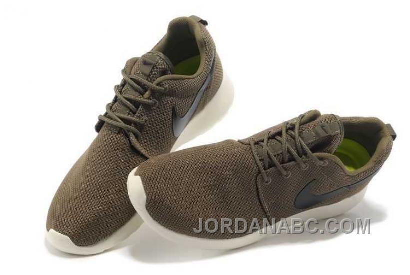 Nike Roshe Run Mesh Dark Green White Shoes