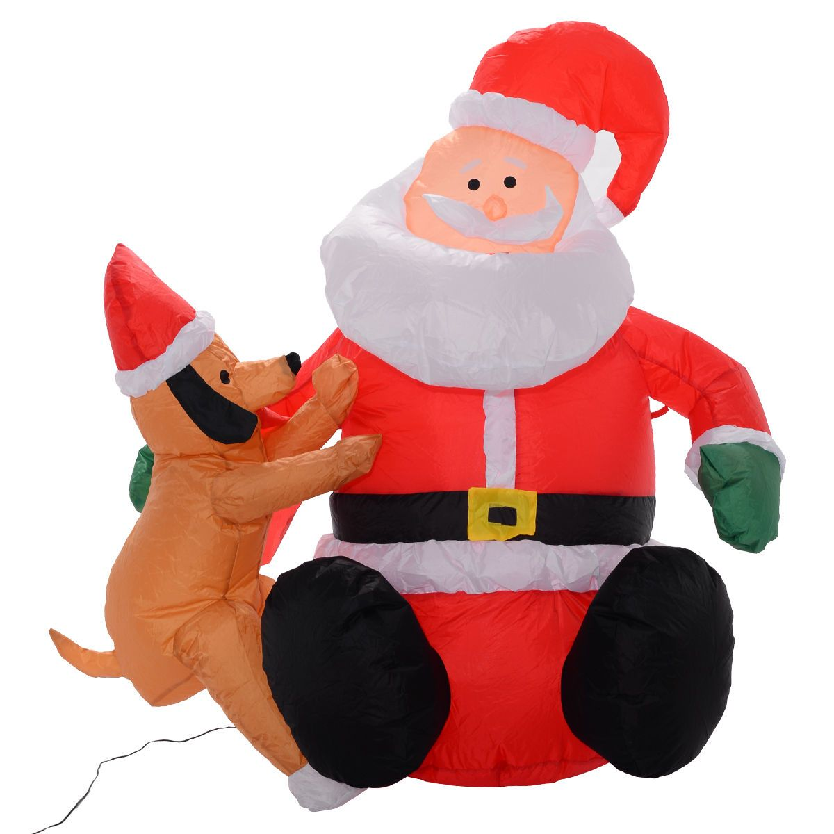 4Ft Airblown Inflatable Christmas Santa Claus Lighted Decor Lawn Yard Outdoor