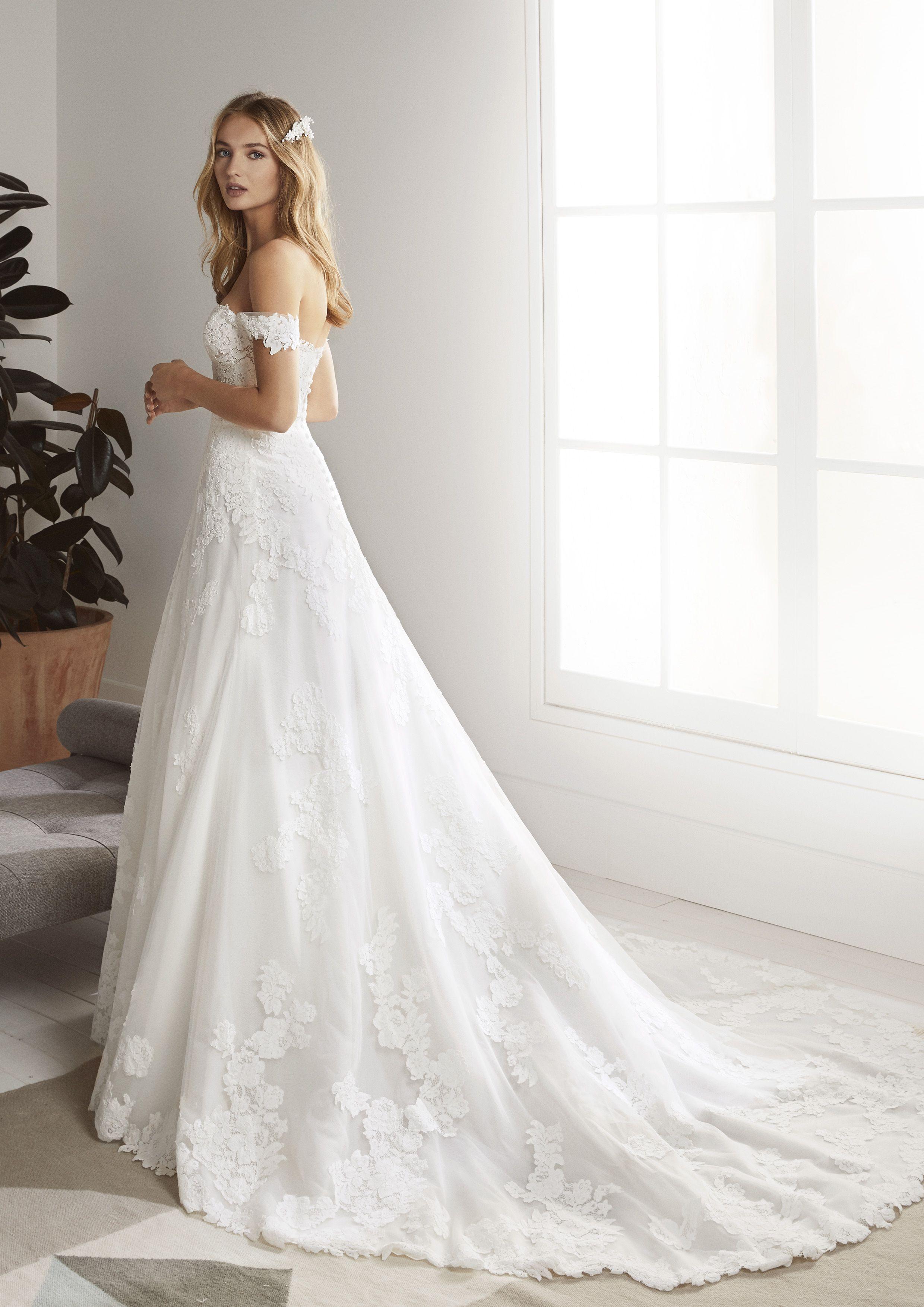 Vestidos novia white