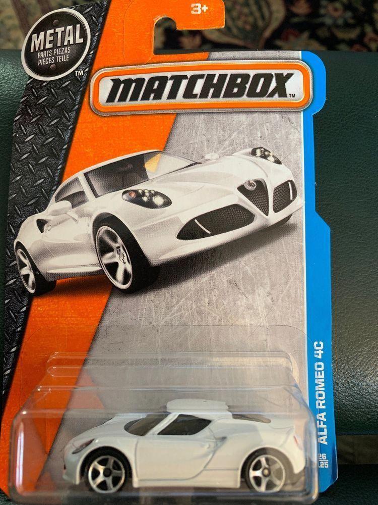 Matchbox 26 Alfa Romeo 4c White Car Mbx Adventure City Ebay
