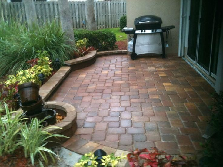 Paver Patio In A Small Space Brick Bordered Planting Areas Yard Pavers Ideas Front Patio Paver Ideas Small Patio Pavers Design Small Patio Design Patio Stones