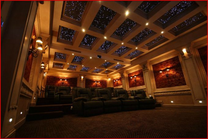 Home Theatre With Fibre Optic Star Light Effect In The