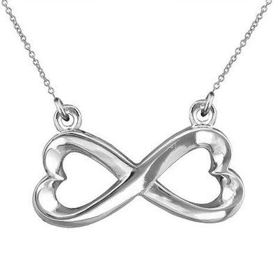 The infinity necklace meaning symbolize everlasting love or the infinity necklace meaning symbolize everlasting love or friendship unity eternity or empowermente cross pendant measures 75 inch aloadofball Gallery