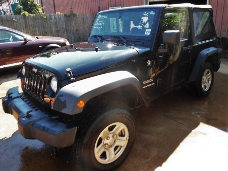 EBay: 2012 Jeep Wrangler SPORT 4WD 2012 JEEP WRANGLER SPORT 4WD 47755 Miles  BLACK CLEARCOAT W/BLACK SOFT TOP SUV 6 #jeep #jeeplife