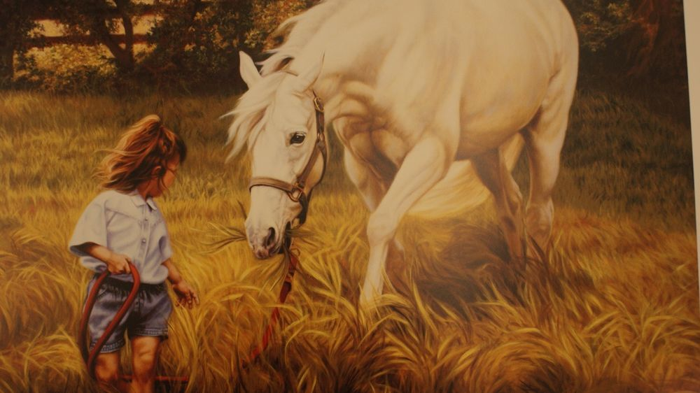 The Baby Sitter By Pamela Parker   Horses, Realism art