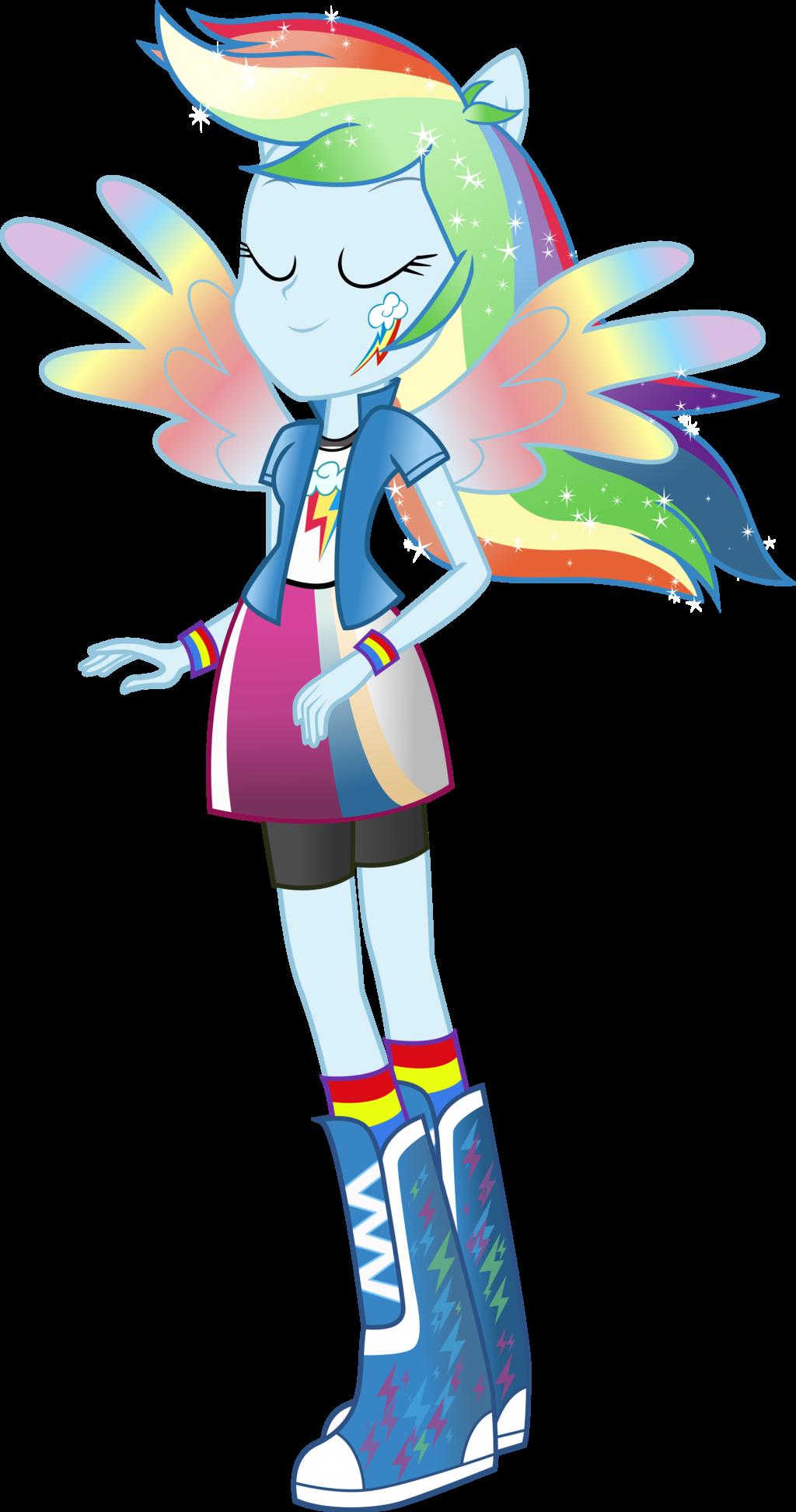 - Equestria Girls: Rainbow Dash Rainbowfied By TheShadowStone On