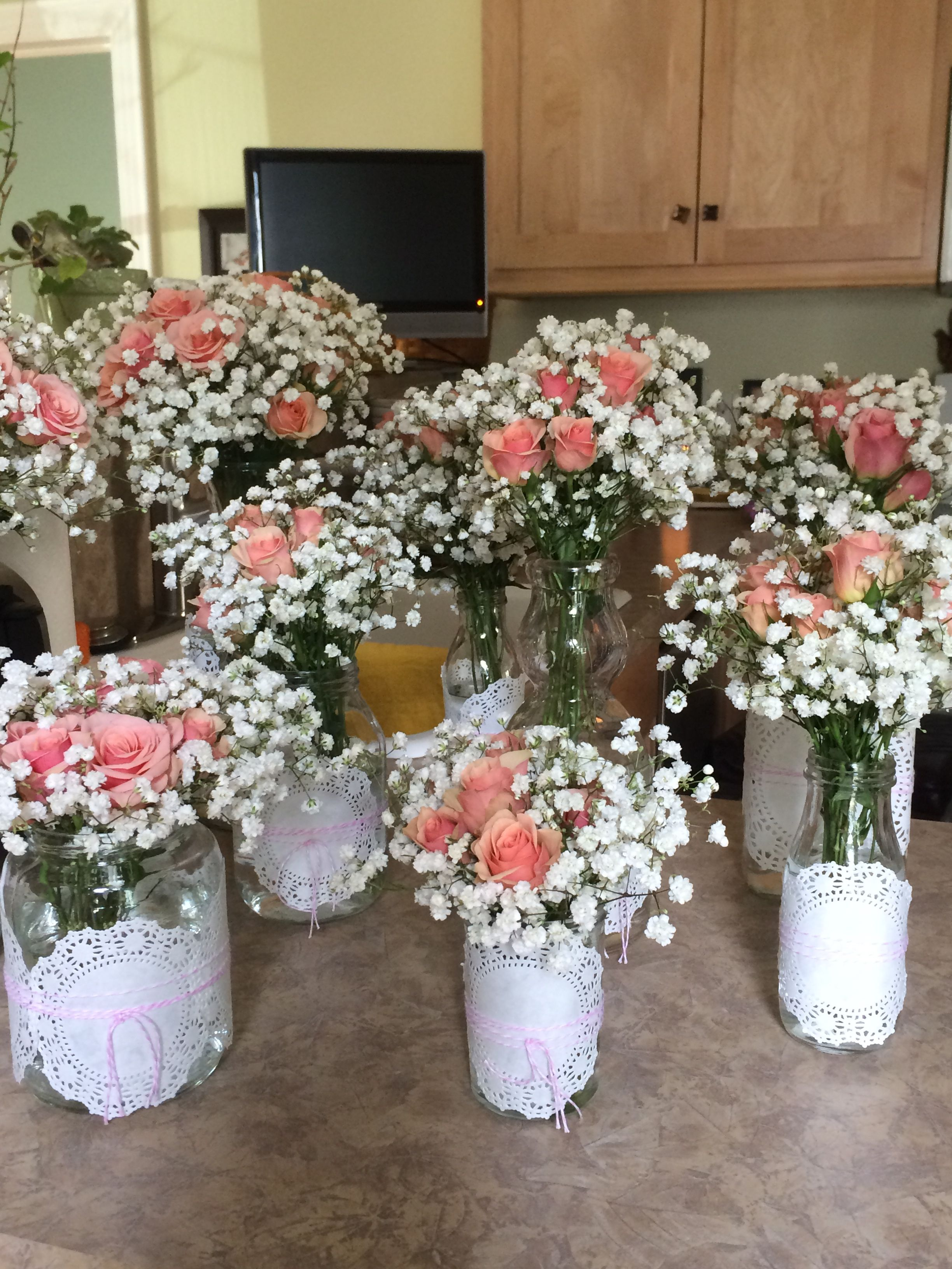 First communion flower arrangements