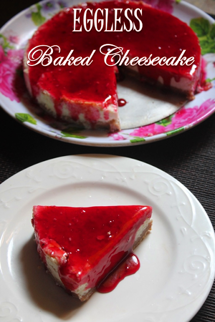 Baked Eggless Cheesecake Recipe Eggless Classic Cheesecake Recipe Yummy Tummy Eggless Cheesecake Recipe Cheesecake Recipes Cheesecake Recipes Classic