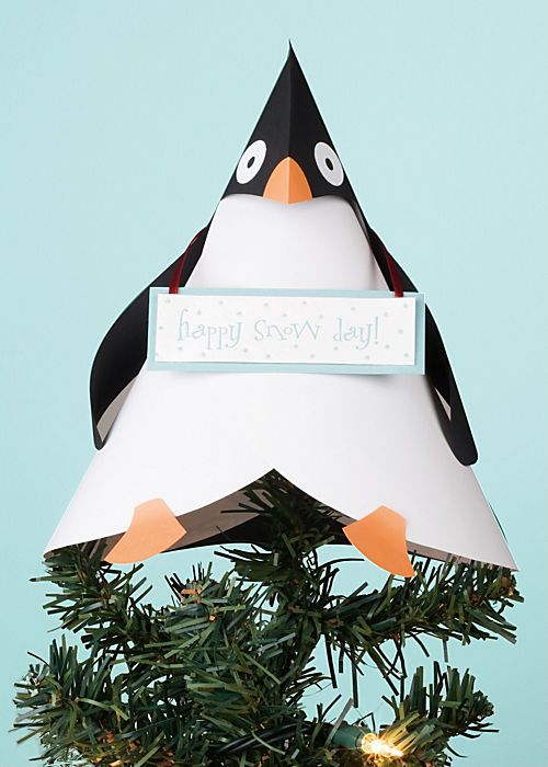 I love this cone idea - the penguin is adorable but it could easily ...