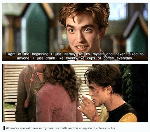 Robert Pattinson being awkward on the set of Harry Potter ...