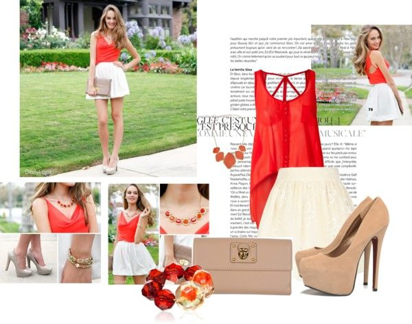 """""""orange!"""" by loumy on Polyvore"""