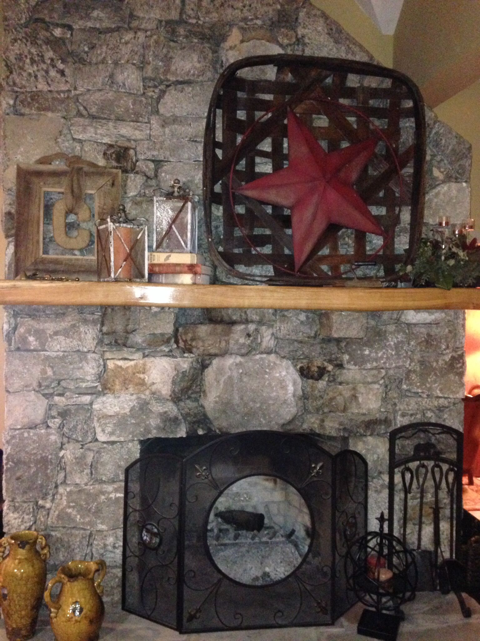 Mantle Decorating Rustic Mantle Craft Ideas Pinterest