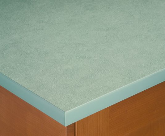 Green Glass Square Edged Laminate Worktop For The