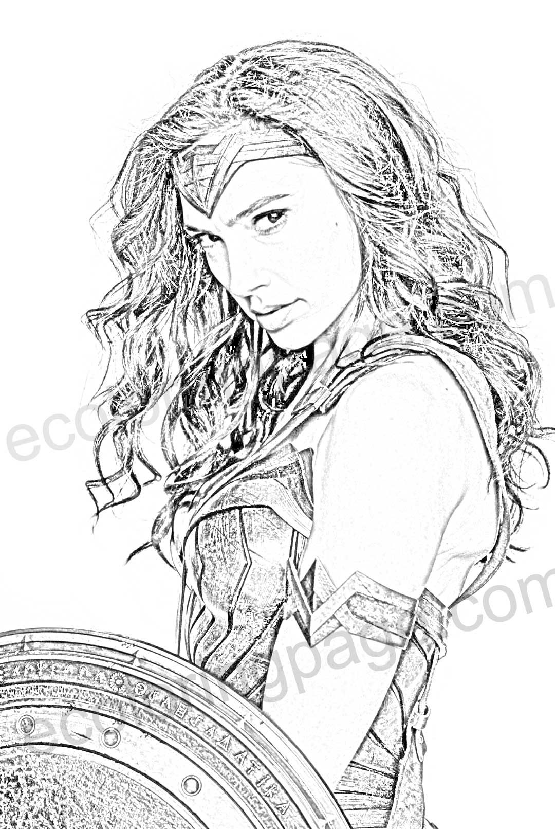 wonder-woman-colouring-page  Coloring pages for kids, Coloring
