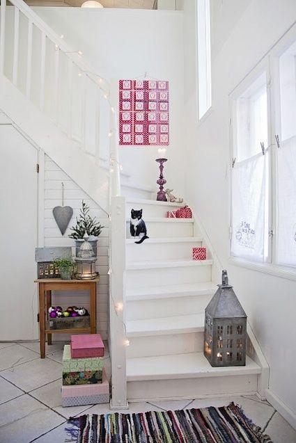 decoracin de escaleras para navidad
