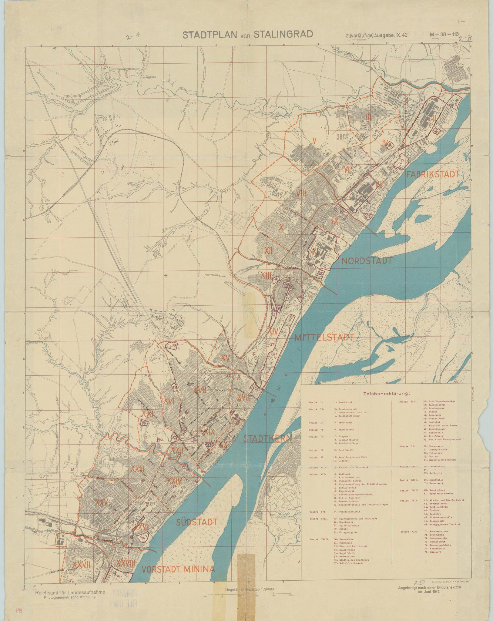German map of Stalingrad (1942) | MAPS | Pinterest