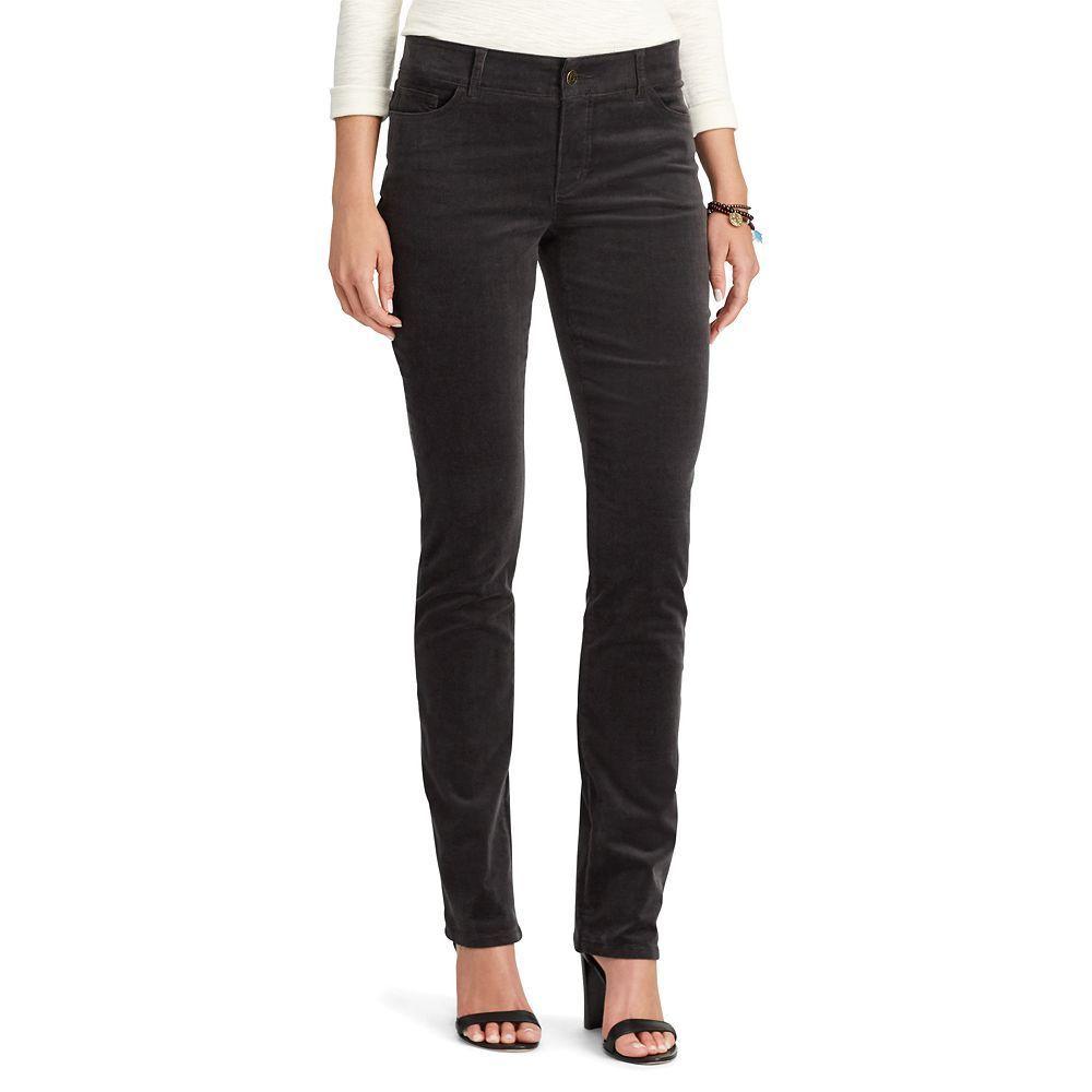 2402cec4b015e Petite Chaps 4-Way Stretch Straight-Leg Corduroy Pants, Women's, Size: 6P -  Short, Grey