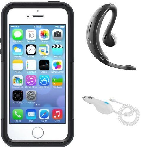 Black Friday iPhone 5/5S Accessory Bundle - Includes Otterbox Commuter Case, Jabra Wave Bluetooth Headset and Car Charger from OtterBox